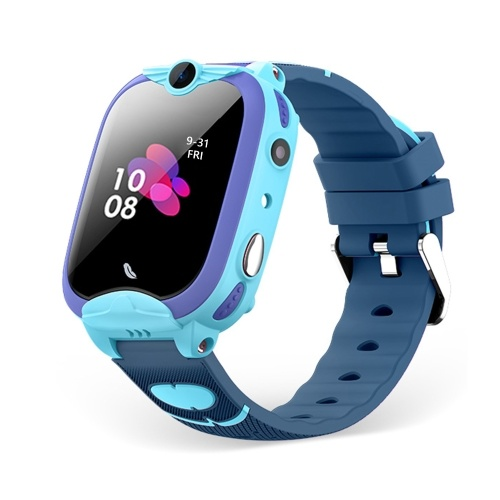 1,4-Zoll-4G-Smartwatch für Kinder mit 2-Wege-Anruf Voice-Chat Remote-Sprachüberwachung GPS / Wi-Fi / LBS-Standort SOS-Nothilfe Fitness-Armband IP67 Wasserdichte Touchscreen-Smartphone-Uhr für Jungen, Mädchen, Kinder, Studenten