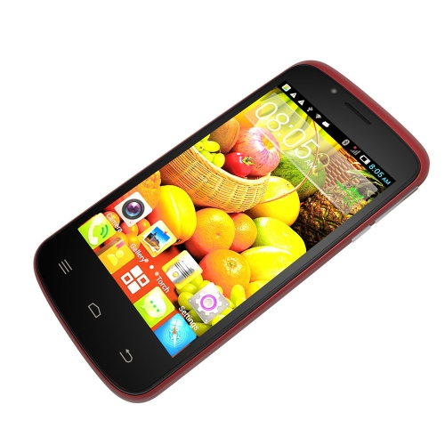 Cubot GT95 Smartphone 3G Dual Core MT6572 Cell Phone Android 4.4 4.0'' WVGA Capacitive Touch Screen 512MB+4GB 5MP Camera Red