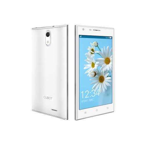 Cubot Smartphone S308 WCDMA 3G Quad Core Cell Phone Android 4.2 5.0'' IPS Capacitive Touch Screen 2GB 16GB 8MP 13MP Camera  White