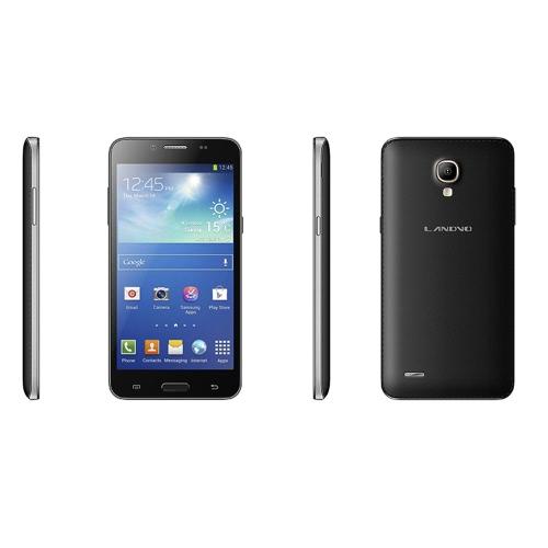 Landvo L800S スマート フォン Android 4.4 MTK6582 クアッドコア 1.2 GHz 5「IPS の容量性スクリーン 1/4 GB WCDMA 3 G 5 mp/0.3 mp カメラ Bluetooth GPS ブラック