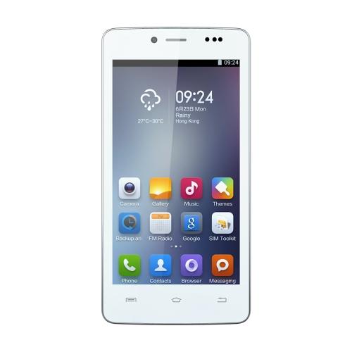 Cubot P10 スマート フォン Android 4.2 MTK6572 デュアル コア 5「画面 1 GB RAM 8 GB ROM 5 mp 8 mp デュアル カメラ ホワイト
