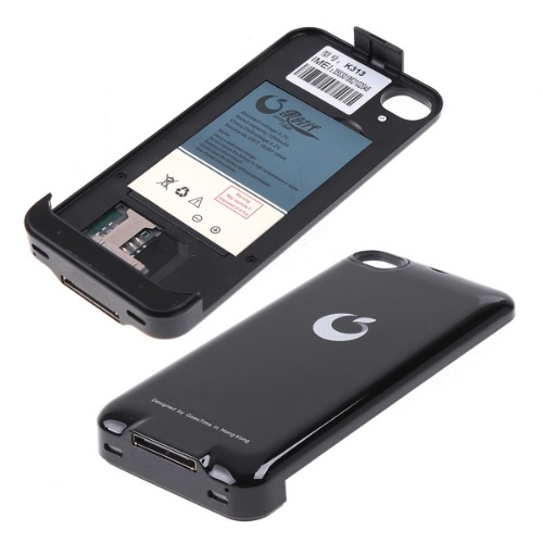 Dual SIM Backup batterie Etui Housse pour iPhone 4G