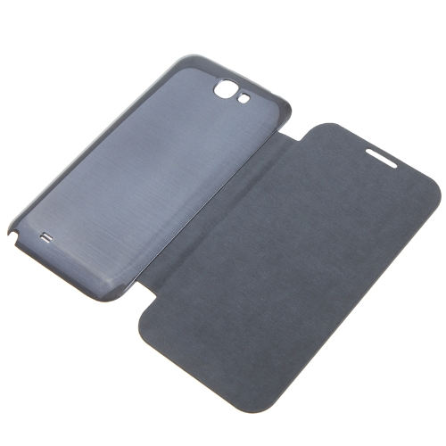 Qi Wireless Power Back Cover Flip Case Charging Receiver with NFC for Samsung Galaxy Note II 2 N7100 Dark Gray
