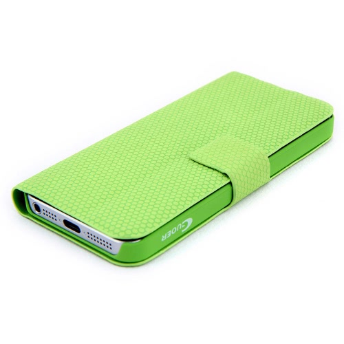 Magnético adsorção Folio Smart Flip Mobile protetora cobrir multifuncional dobradura titular Headphone bobina para iPhone 5 verde