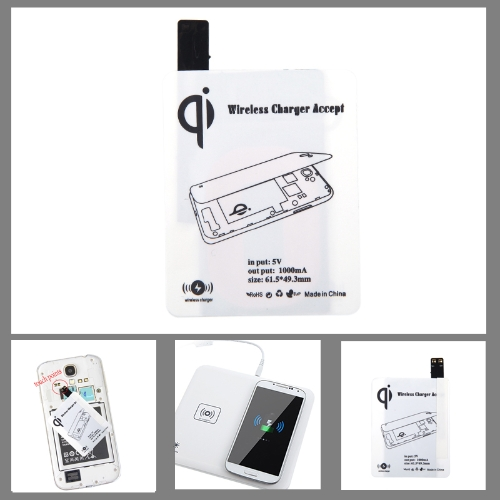 Qi Wireless Charging Receiver for Samsung Galaxy S4 i9500 i9505 White