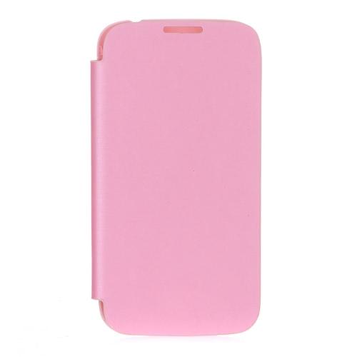 Elegante tampa traseira Bolsa em couro PU Battery caso de Habitação para Samsung Galaxy i9500 S4 / Rosa i9505