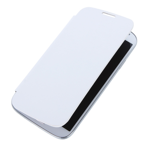 Elegant Back Cover Flip PU Leather Battery Housing Case for Samsung Galaxy S4 i9500/i9505 White
