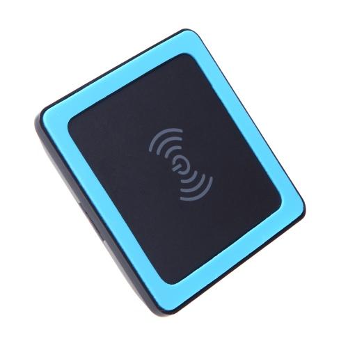 Мини-Ци беспроводное зарядное устройство передатчика Pad с силиконовым ковриком для Google Nexus 4/5 Nokia Lumia 920 iPhone 4/4S/5/5S Samsung S4 S5 ультратонких тонкий черный + синий