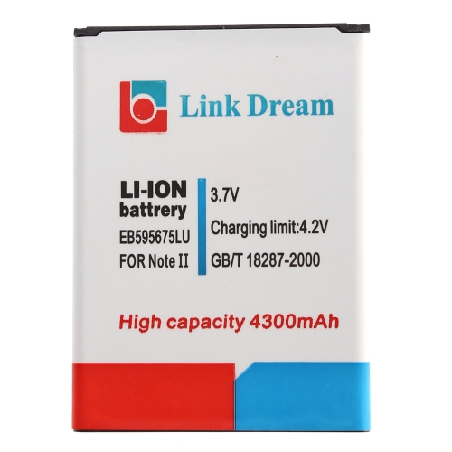 3.7V 4300mAh Rechargeable Li-ion Battery High Capacity Replacement for Galaxy EB595675LU Note II 2 N7100