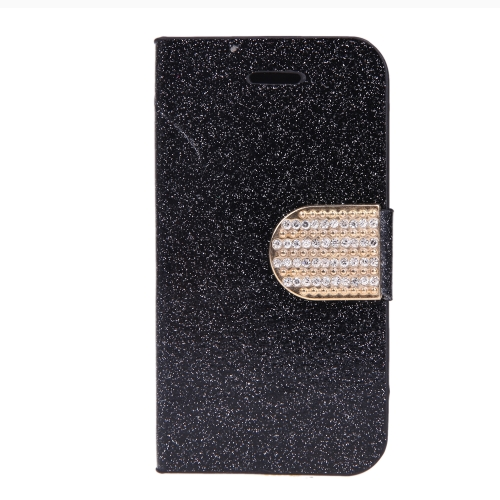 Fashion Wallet Case Flip Leather Stand Cover with Card Holder for iPhone 4 4s 4g Black