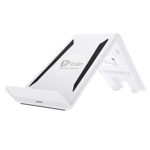 Transmissor de carregador sem fio Qi Três bobinas com suporte Suporte para iPhone 6 6S 6 Plus 6S Plus Samsung Galaxy Note4 Note5 Borda de nota S6 S6 borda S6 borda Plus LG G4 Xiaomi Note Pro Huawei Mate 7 P7 P8 Smartphone