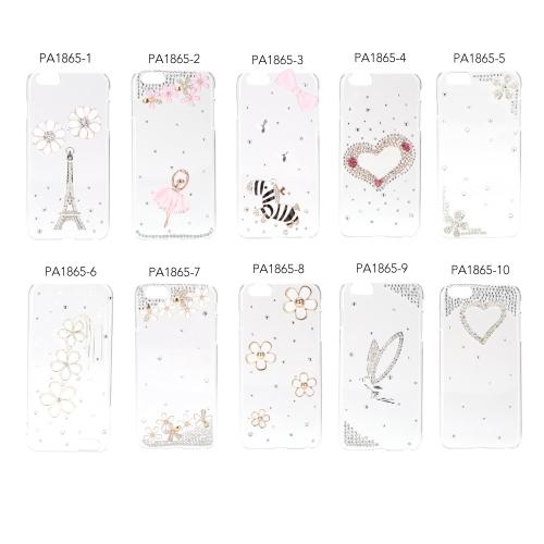 Ultra-mince léger en plastique Fashion Bling Shell protection retour Housse étui pour iPhone 6 Plus