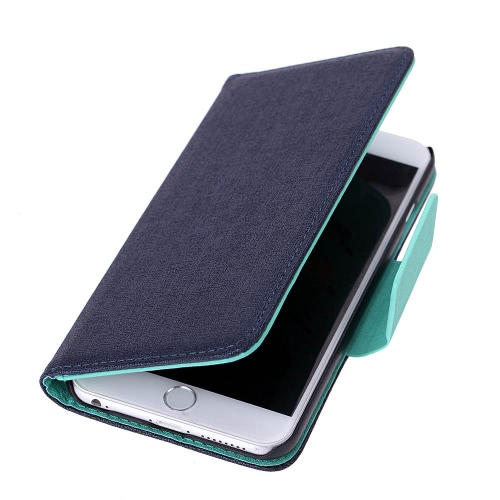 Luxury Flip PU Leather Hard Wallet Case Cover Textured Grain Pouch Stand Folded Magnetic Clip фото