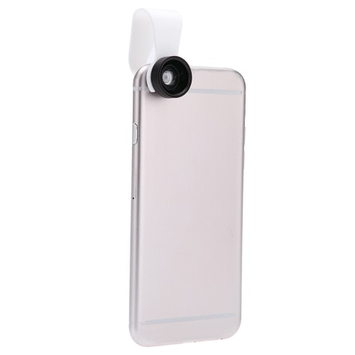 Clip-on amovible 110° 0,67 X Wide Angle 10 X Macro Lens pour iPhone 5 6 Samsung romaric Sony iPad Mini