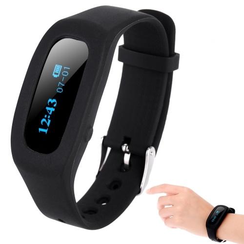 Bracelet de podomètre intelligent de traqueur intelligent Bluetooth4.0 de seconde main de bracelet d'activité intelligente de moniteur d'activité de temps / de calories / de sommeil pour l'iPhone Android Smartphone