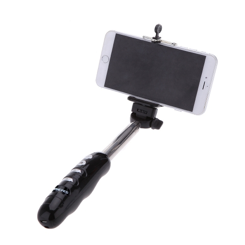 2-in-1 Portable Extendable Wireless Bluetooth 3.0 Selfie Handheld Monopod Stick Holder with Clip for iPhone 4S 5 5S 5C 6 6 Plus Samsung Smartphone