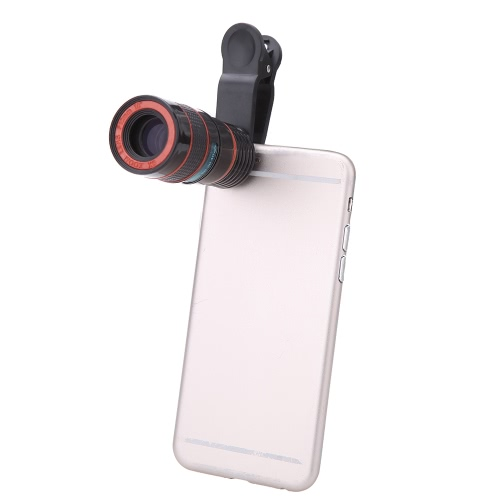 Universal Special Design 8X Zoom Phone Telephoto Camera Lens with Clip for iPhone Samsung HTC