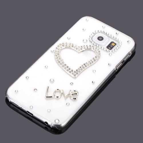 Ultrathin Lightweight Plastic Fashion Bling Bumper Shell Case Protective Back Cover for Samsung Galaxy S6