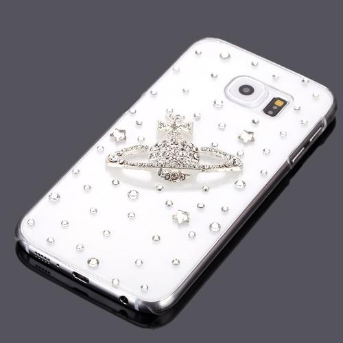 Moda ultrafinos de plástico leve Bling pára-choques Shell caso traseira tampa protetora para Samsung Galaxy S6
