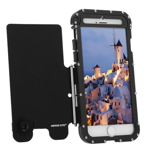 R-apenas proteção caso Shell Flip cobrir aço inoxidável Metal durável para iPhone 6 6S 4,7