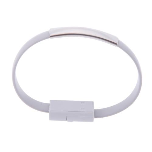 Sincronização de dados 2,0 micro USB cabo pulso Pulseira forma de carregamento para Samsung HTC Smartphone MP3 MP4