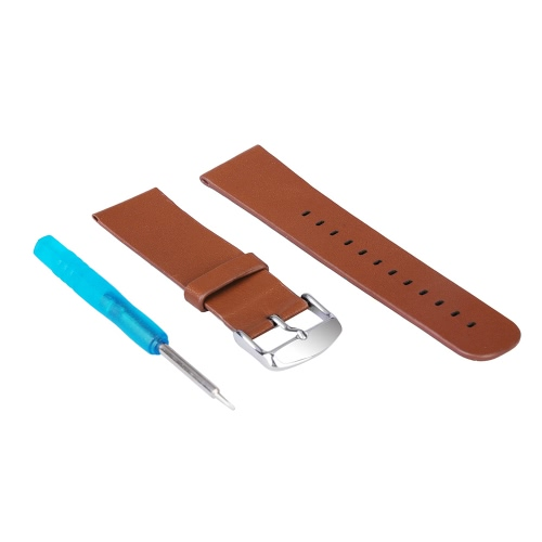 High Quality Genuine Leather Strap Classic Texture Replacement Wrist Band Watchband with Buckle Tool for Apple Watch iWatch 38mm