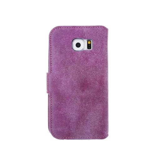 Модный Ретро Флип PU Кожаный Бумажник Защитный Чехол Обложка с Держателем Карты Фоторамкой для Samsung Galaxy S6 фото