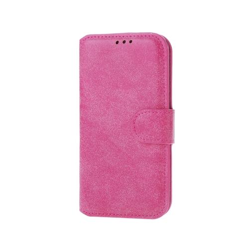Moda retrô aleta PU couro carteira caso capa protetora com molduras para fotos cartão titular para Samsung Galaxy S6