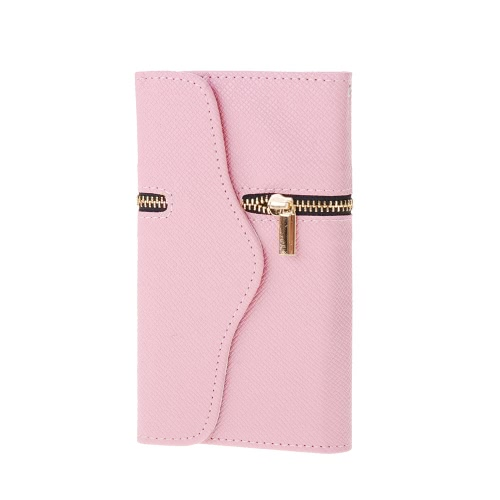 Zipper Flip PU Leather Wallet Protector Hard Case Cover