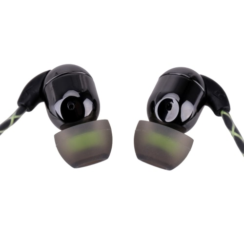 In-ear Piston Ceramic Binaural Stereo Earphone Headset with Microphone Answer Phone Earbud Ear Hook Listening Music Waterproof IPX5 for iPhone HTC Smartphone MP3