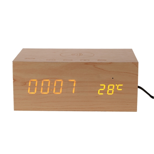 X5 Qi Wireless Charging Bluetooth Speaker with NFC Hands-free Call LED Digital Display & Button Clock Temperature for IPhone Samsung