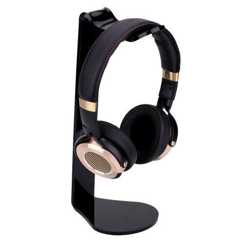 Acrílico em forma de L fone de ouvido fone de ouvido Stand Headphone cremalheira suporte para iPhone Samsung