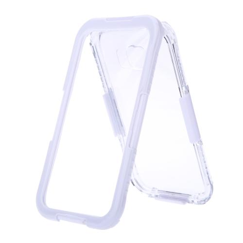 文字列で耐震軽量丈夫な保護ケースシェルカバー防塵防水IP68  Galaxy S6用