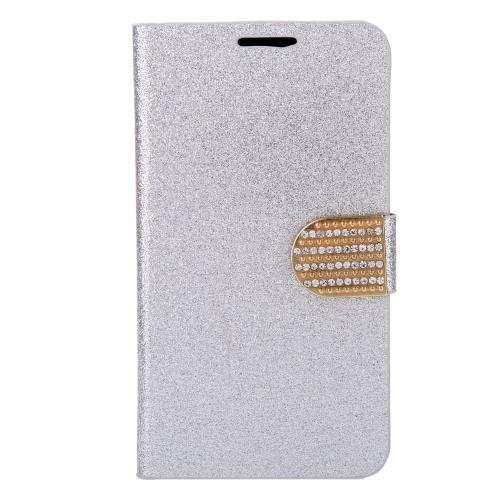 Moda carteira caso couro Flip Stand capa com suporte de cartão para Samsung Galaxy S6 borda
