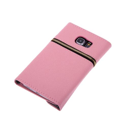 Carteira de couro PU exclusivo fecho magnética Flip titular de cartão duro caso capa para Samsung Galaxy S6 borda
