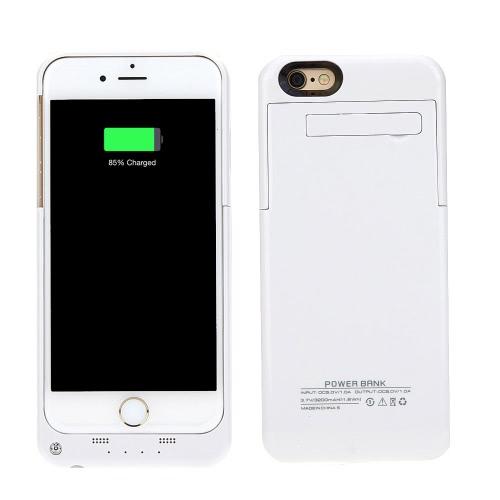 3200mAh 外部バックアップバッテリー充電器ケースカバーパックパワーバンク充電式ポータブルApple iPhone 6 4.7