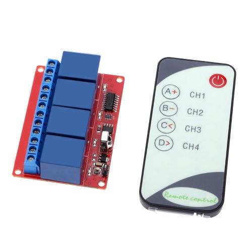 KKmoon Quatre-chemin Quatre-canal 12V Module IR Remote Control relais avec indication LED