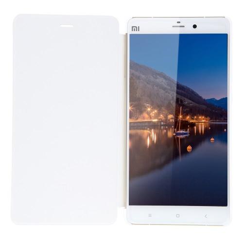Nota Xiaomi Flip protetor de PU caso Shell Soft mão sentir capa Wake inteligente