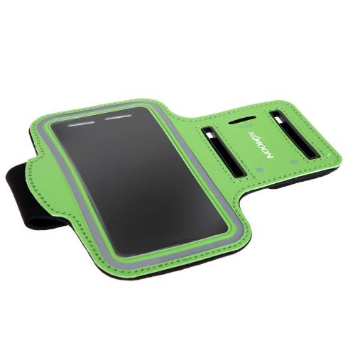 KKMOONスポーツアームポーチジョギングバンドジムランニングストラップ調節可能吸汗TPUSamsung Galaxy S6用【並行輸入品】