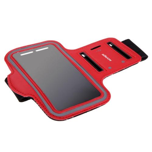 Bolsa de braço Sport KKmoon movimentando-se ginásio banda executando cinta ajustável suar-absorvente TPU para Samsung Galaxy S6