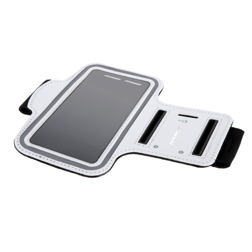 Bolsa de braço Sport KKmoon movimentando-se ginásio banda executando cinta ajustável suar-absorvente TPU para Samsung OBS4