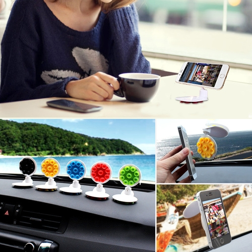 360�� Rotation Car Windshield Mobile Phone Holder Antiskid Powerful Stick Suction Cups Phone Stand Support On Back for iPhone GPS Cellphone