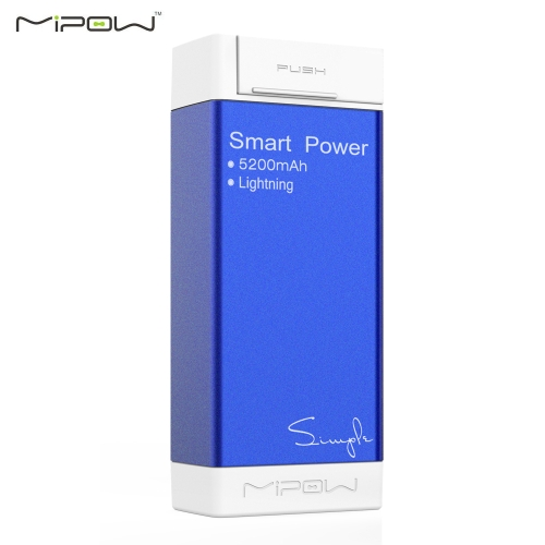 [with Apple MiFi Certified] MIPOW SPL05 Power Tube Simple 5200mah Portable Charger Mobile Power Supply for iPhone 5 5s 6 6plus