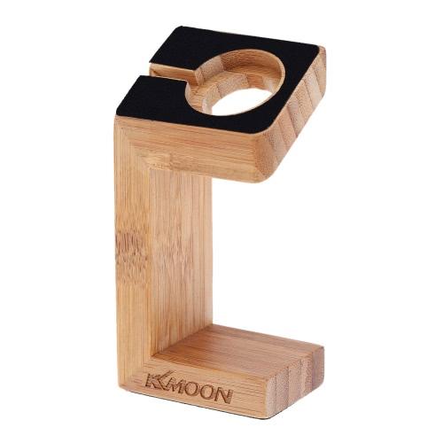 KKMOOM para iWatch relógio artesanal madeira Stand carregamento doca estação plataforma Apple carregando carrinho suporte Docking Station titular para 2015 Apple relógio 38 / 42mm edição Sport todos os modelos