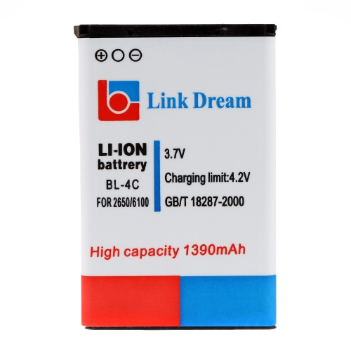 Link Dream 3.7V 1390mAh Rechargeable Li-ion Battery High Capacity Replacement for Nokia 2650/5100/6100/6101/6103/6125/6131