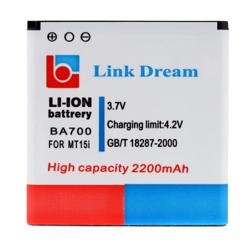Link Dream 3.7V 2200mAh Rechargeable Li-ion Battery High Capacity Replacement for Sony MT15i