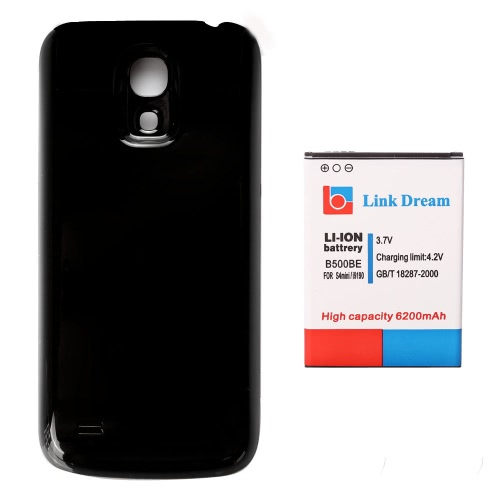 Link Dream 3.7V 6200mAh High Capacity Li-ion Extended Battery with Back Cover for Samsung Galaxy B500BE S4 Mini I9190