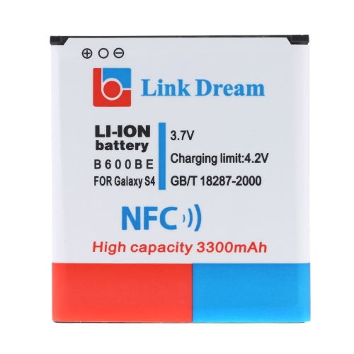 Link Dream 3.7V 3300mAh Rechargeable Li-ion Battery with NFC Replacement for Samsung Galaxy S IV / i9500
