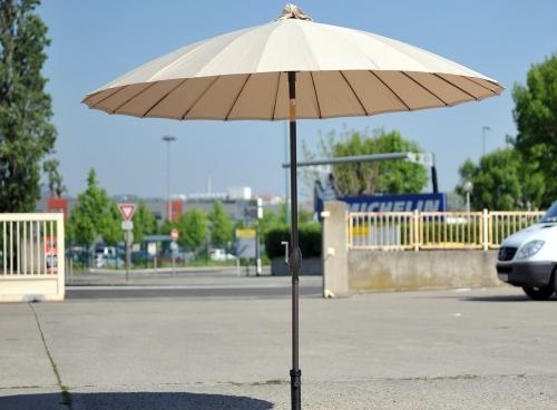Parasol Shanghai Ecru de Diámetro 250 cm Inclinación Paraguas Sombrilla - Cubierta Ofrecidos