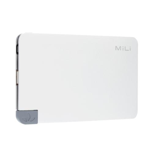 MiLi Power Nova I HB-T05-1 5000mAh grande capacité sécuritaire Power Bank pour l'iPhone 6 6 Plus Samsung HTC Smartphone élégant Portable ultra léger anti-poussière Durable